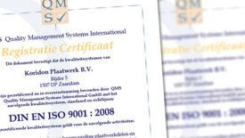 Jaarlijkse ISO audit 9001 : 2008
